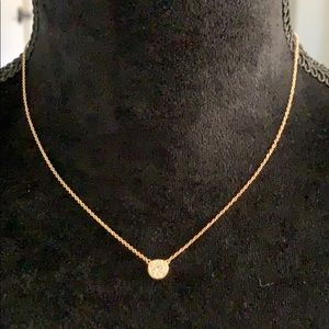 NADRI Gold CZ Solitaire Necklace